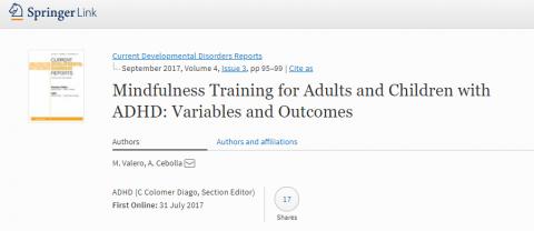 Mindfulness y TDAH: adultos y niños