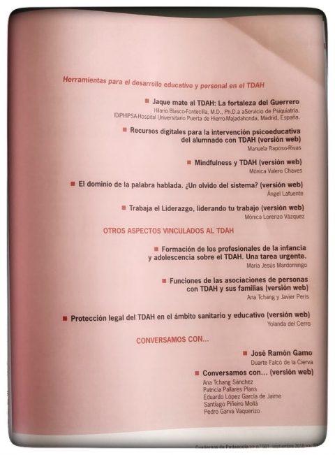 Publicamos en Nº 501 Revista Cuadernos de Pedagogía